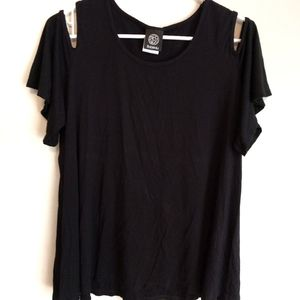 Bobeau cold shoulder black shirt XL